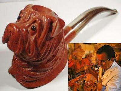 Chez Paul Lanier, sculpteur sur pipe